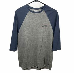 Billabong Core Fit | Gray & Navy 3/4 Sleeve Tee